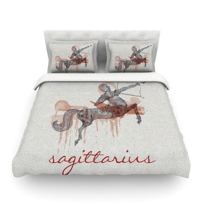 Sagittarius by Belinda Gillies Featherweight Duvet Cover Size: Full/Queen