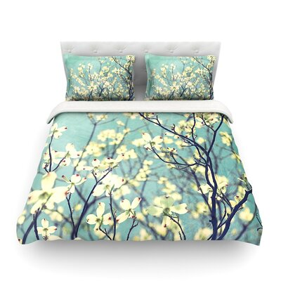 Pure Floral by Ann Barnes Featherweight Duvet Cover Size: Full/Queen