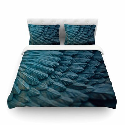 Ombre Angel Blue Celestial by Ann Barnes Featherweight Duvet Cover Size: King