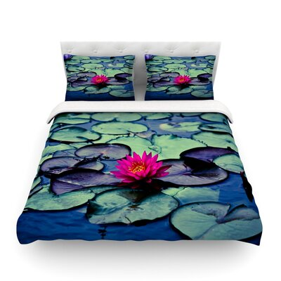 Twilight Water Lily by Ann Barnes Featherweight Duvet Cover Size: Twin