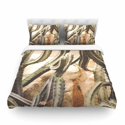 Cactus Jungle by Ann Barnes Featherweight Duvet Cover Size: Full/Queen