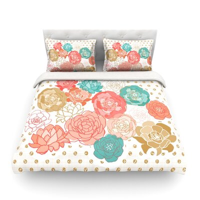 Spring Florals Blush Peony by Pellerina Design Featherweight Duvet Cover Size: King