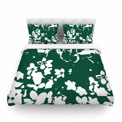 Helena Floral by Love Midge Featherweight Duvet Cover Size: Full/Queen, Color: Green/White