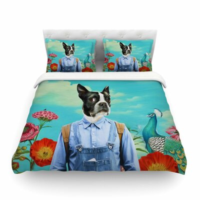 Family Portrait Dog by Natt Featherweight Duvet Cover Size: King