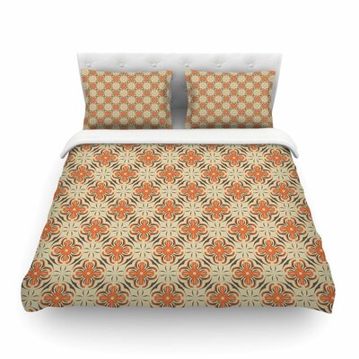 Geometric Tile Geometric by Mayacoa Studio Featherweight Duvet Cover Size: Full/Queen