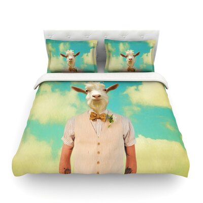 Passenger 6F Goat by Natt Featherweight Duvet Cover Size: Full/Queen