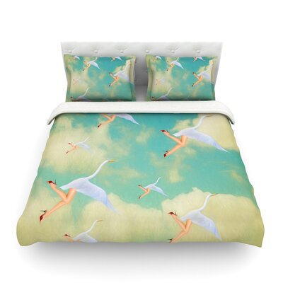 Swan by Natt Featherweight Duvet Cover Size: King