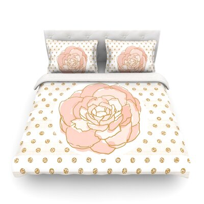 Watercolor Peony by Pellerina Design Featherweight Duvet Cover Size: King