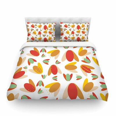 70s Retro Floral by Love Midge Featherweight Duvet Cover Size: Full/Queen