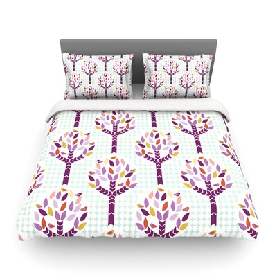 Orchid Spring Tree Abstract by Heidi Jennings Featherweight Duvet Cover Size: King