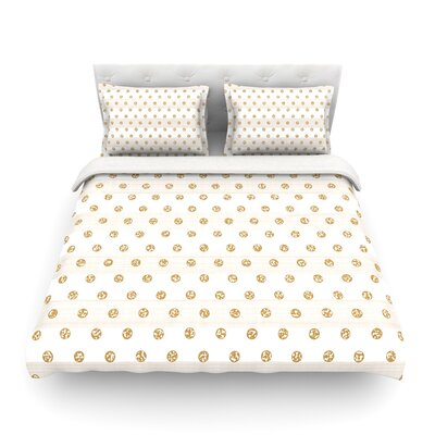 Linen Polka Stripes Dots by Pellerina Design Featherweight Duvet Cover Size: Full/Queen