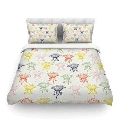 Rainbow Poppies Floral by Gukuuki Featherweight Duvet Cover Size: King