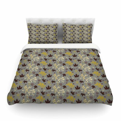 Fall Leaves Floral by Mayacoa Studio Featherweight Duvet Cover Size: King