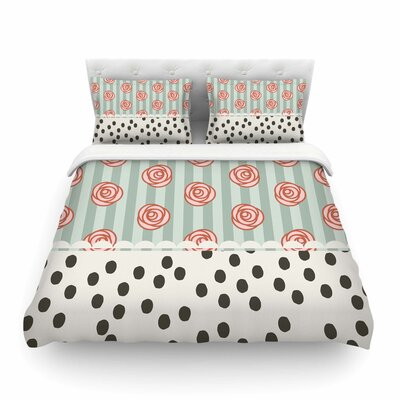 Mismatch Romantic by Pellerina Design Featherweight Duvet Cover Size: Twin, Color: Bohemain/Coral