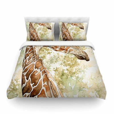 Africa 2 Animals by Wildlife Featherweight Duvet Cover Size: Twin