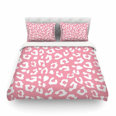 Animal Print 1 Rose White by Wildlife Featherweight Duvet Cover Size: Twin