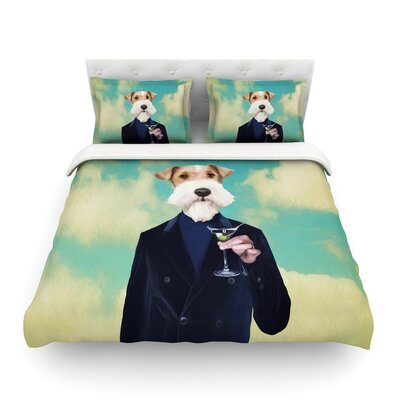 Passenger 8F Schnauzer by Natt Featherweight Duvet Cover Size: Full/Queen