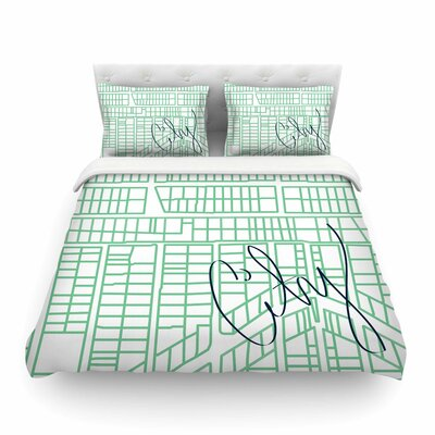 City Streets & Parcels by Love Midge Featherweight Duvet Cover Size: Twin
