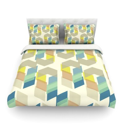 Kobob Chevron Geometric by Gukuuki Featherweight Duvet Cover Size: King