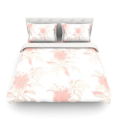 Pastel Fluers by Gukuuki Featherweight Duvet Cover Size: Full/Queen