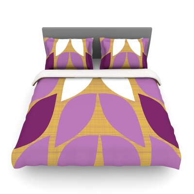 Orchid Petals by Heidi Jennings Featherweight Duvet Cover Size: King