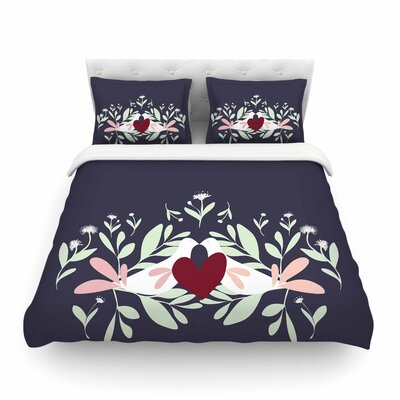 Love Nest Animals by Mayacoa Studio Featherweight Duvet Cover Size: Twin