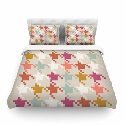 Houndstooth Panel Digital by Pellerina Design Featherweight Duvet Cover Size: Twin