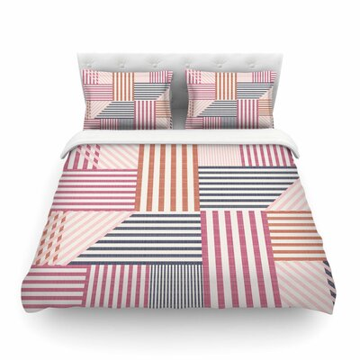 Mod Linework Geometric by Pellerina Design Featherweight Duvet Cover Size: Twin