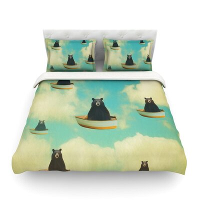 Bears Floating Animals by Natt Featherweight Duvet Cover Size: Twin