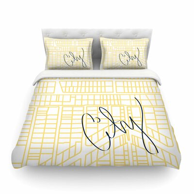 City Streets And Parcel Maps Travel by Love Midge Featherweight Duvet Cover Size: King