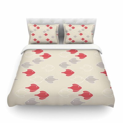 Mayan Fish by Gukuuki Featherweight Duvet Cover Size: Full/Queen