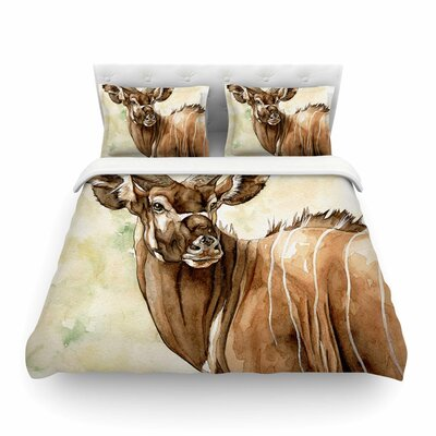 Africa 1 Animals by Wildlife Featherweight Duvet Cover Size: Full/Queen