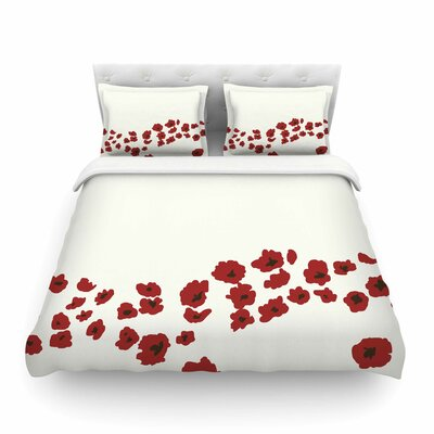 Poppy Field by Mayacoa Studio Featherweight Duvet Cover Size: King