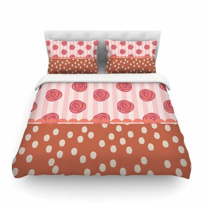 Mismatch Romantic by Pellerina Design Featherweight Duvet Cover Size: Twin, Color: Romantic