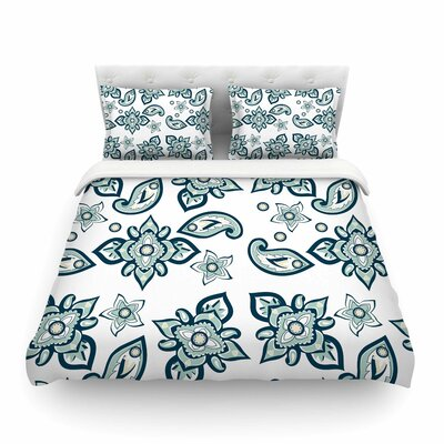 Batik Paisley by Gukuuki Featherweight Duvet Cover Size: King