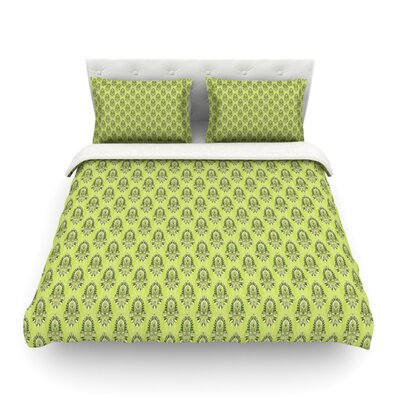 Deco Flourish Pattern by Holly Helgeson Featherweight Duvet Cover Size: King