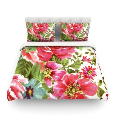 Walk through the Garden Flowers by Heidi Jennings Featherweight Duvet Cover Size: Full/Queen