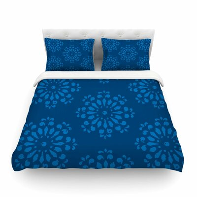 Blue Taylor Damask by Gukuuki Featherweight Duvet Cover Size: Full/Queen
