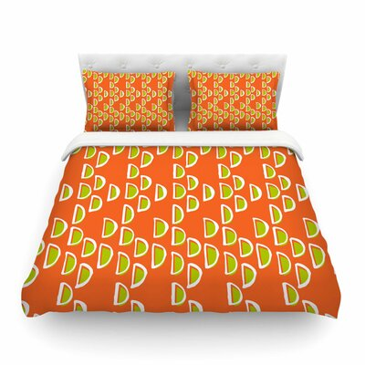 Geo Seed by Holly Helgeson Featherweight Duvet Cover Size: Full/Queen
