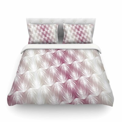 Stripe Palms by Gukuuki Featherweight Duvet Cover Size: Full/Queen