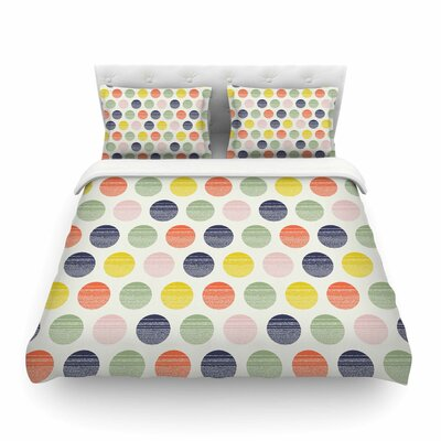 Rainbow Dots Vector by Gukuuki Featherweight Duvet Cover Size: King