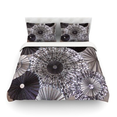 Shadows Circles by Heidi Jennings Featherweight Duvet Cover Size: King