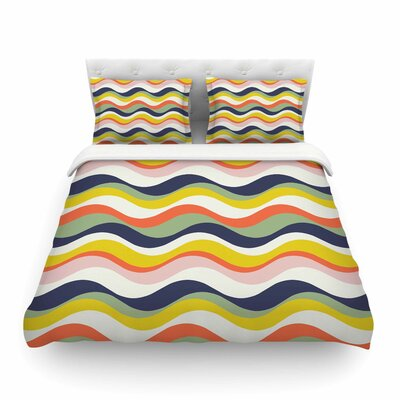 Rainbow Stripes Stripe by Gukuuki Featherweight Duvet Cover Size: Full/Queen