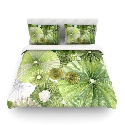 Thumb Lime by Heidi Jennings Featherweight Duvet Cover Size: Full/Queen