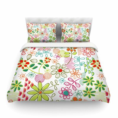 Wildflower by Holly Helgeson Featherweight Duvet Cover Size: Full/Queen