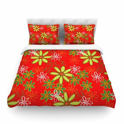 Daisy Mae Floral by Holly Helgeson Featherweight Duvet Cover Size: Full/Queen