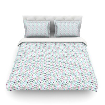 Geeky DNA by Holly Helgeson Featherweight Duvet Cover Size: Full/Queen