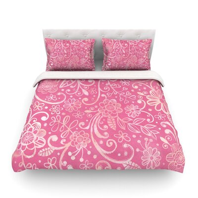 Too Much Floral by Heidi Jennings Featherweight Duvet Cover Size: King
