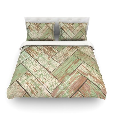 Patina Wood by Heidi Jennings Featherweight Duvet Cover Size: Twin
