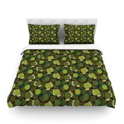 Camillia Dark Forest by Holly Helgeson Featherweight Duvet Cover Size: King